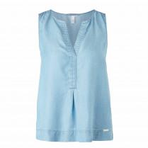 Bluse - Regular Fit - Denim-Optik