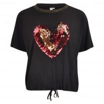 T-Shirt - Loose Fit - Pailletten