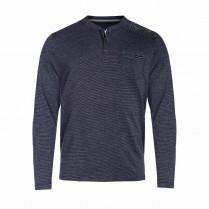Henleyshirt - Regular Fit - Melange-Optik
