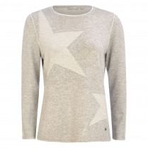 Strickpullover - Loose Fit - Strass