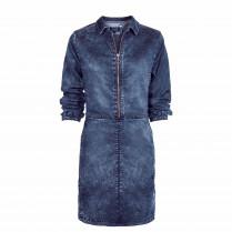 Kleid - Regular Fit - Denim-Optik