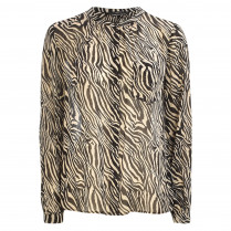 Bluse - Loose Fit - Animal-Print