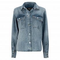 Jeansbluse - Regular Fit - Denim
