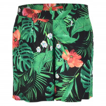 Shorts - Loose Fit - Flower Print