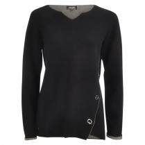 Pullover - Loose Fit - Kelchausschnitt