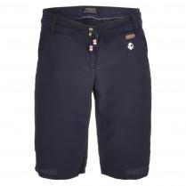 Shorts - Loose Fit - Leinen