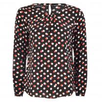 Bluse - Loose Fit - Dot-Prints