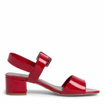 Sandale - Lack-Optik