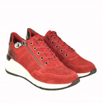 Sneaker - Veloursleder-Optik