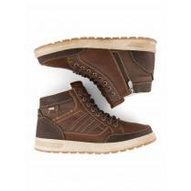 Midcut-Sneaker - Leder-Optik