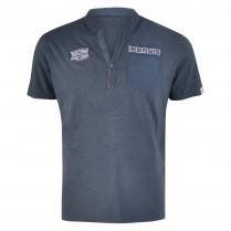 Henleyshirt - Regular Fit - unifarben 100000