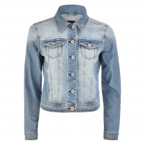 Denimjacke - Regular Fit - Knöpfe 100000
