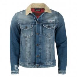 Jeansjacke - Slim Fit - Teddy  Fake Fur online im Shop bei meinfischer.de kaufen
