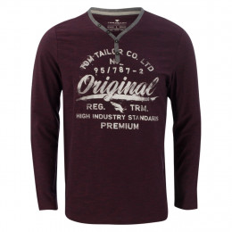 Henleyshirt - Modern Fit - Print online im Shop bei meinfischer.de kaufen