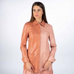 Hemdbluse - Regular Fit - Leder-Optik online im Shop bei meinfischer.de kaufen