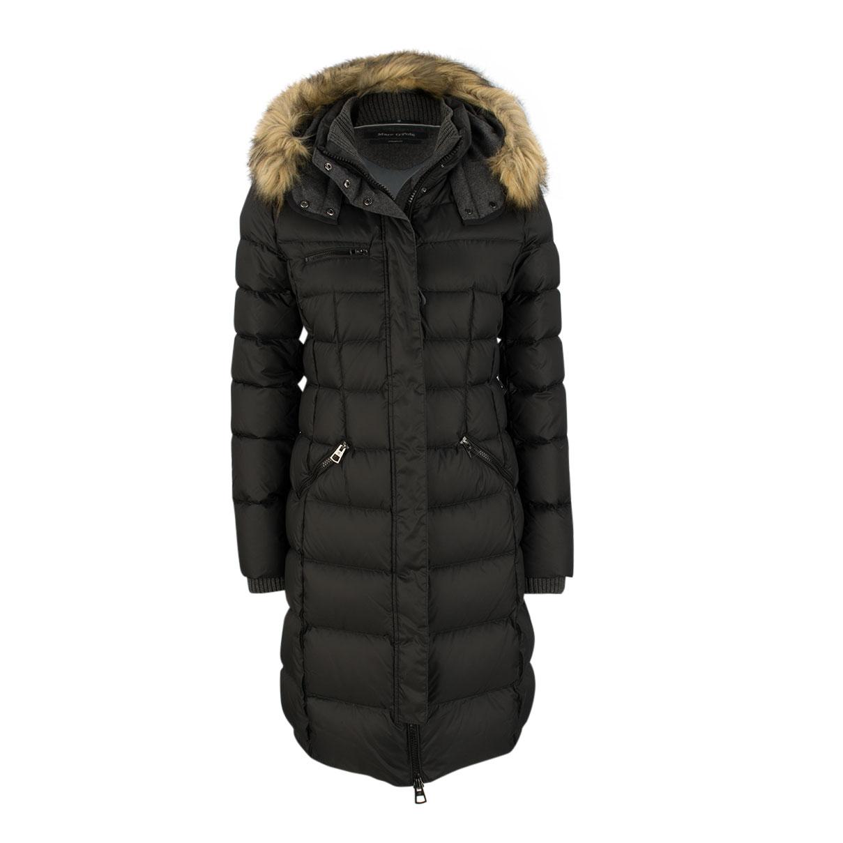 daunenmantel fitted fake fur von marc o 39 polo online kaufen mein fischer. Black Bedroom Furniture Sets. Home Design Ideas