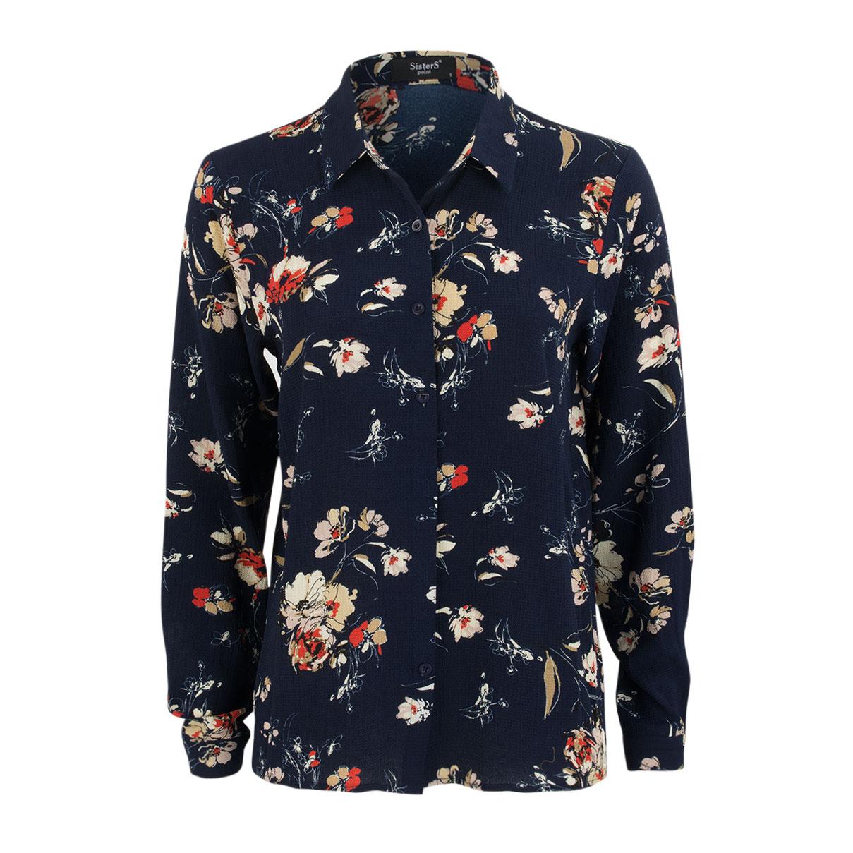Hemdbluse - Regular Fit - Flowers