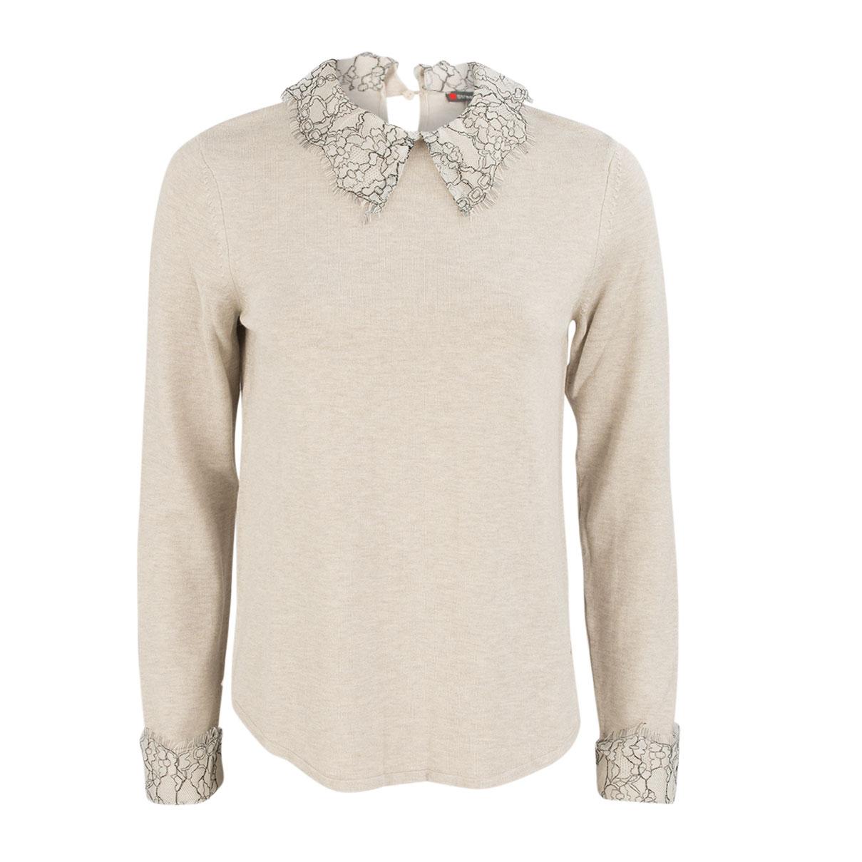 Pullover - Regular Fit - Spitzenkragen