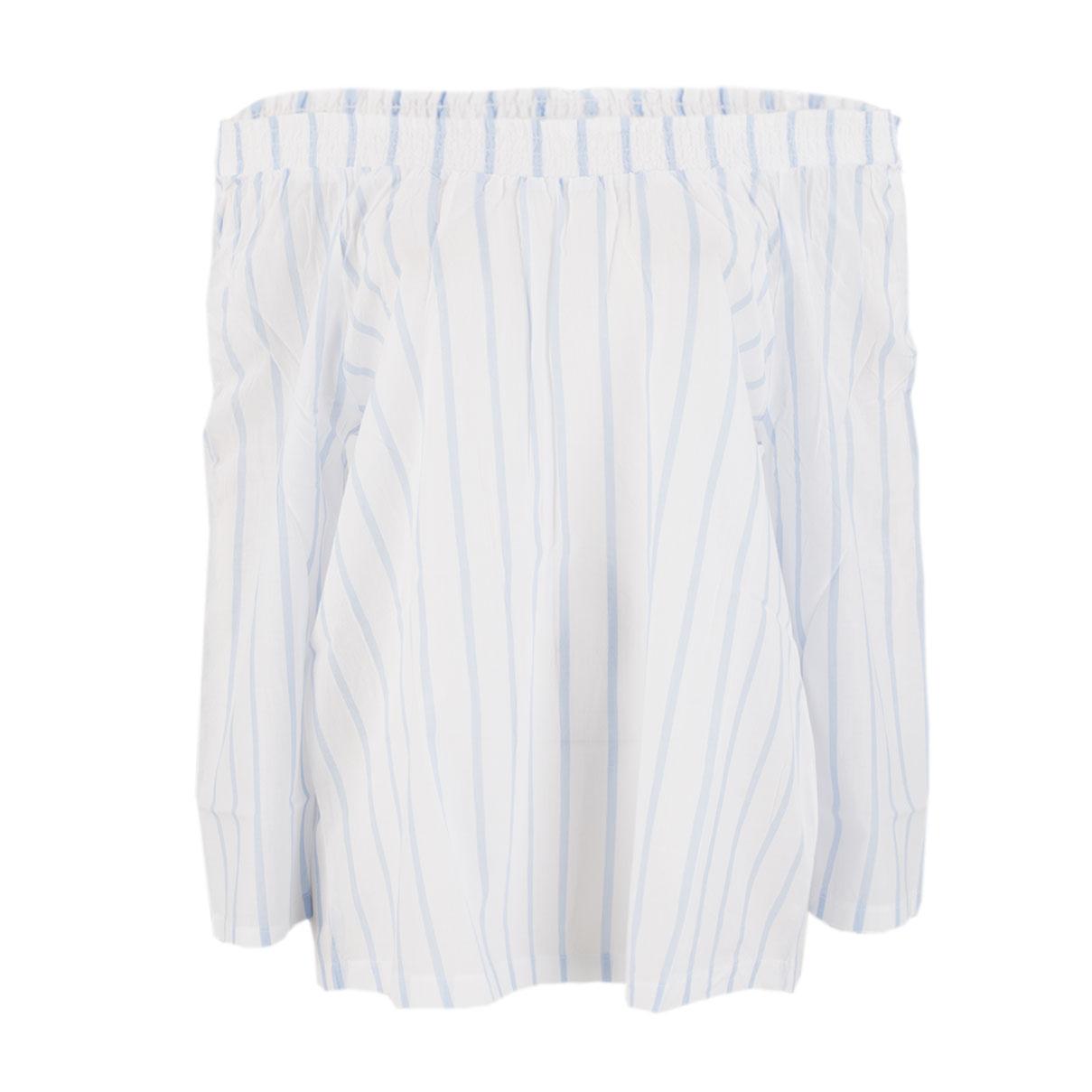 Carmenbluse - Regular Fit - Stripes